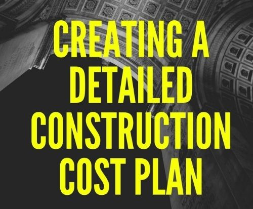 Creating a detailed construction cost plan landscape