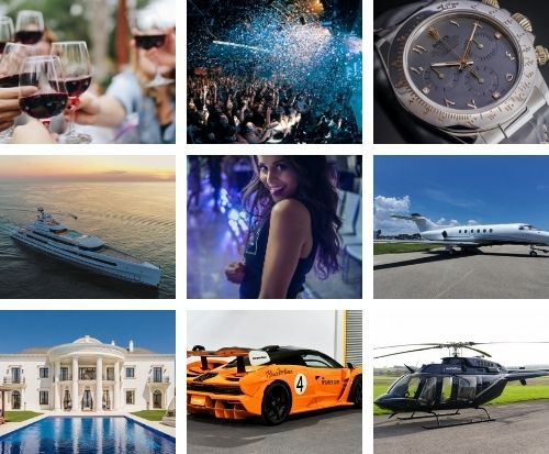 Ten things newly rich people can blow all their money on